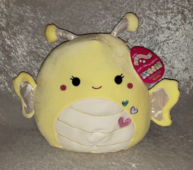 """Squishmallows Nixie the Butterfly 11"""" inch Yellow Kellytoy 2021 Valentine Day"""
