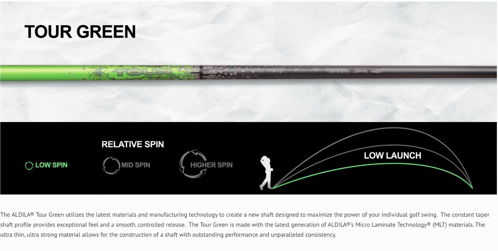 Nuevo Aldila Tour verde  ATX 65 Tour-Eje Rígido Controlador .335 46  S 3.5 Par  Centro comercial profesional integrado en línea.