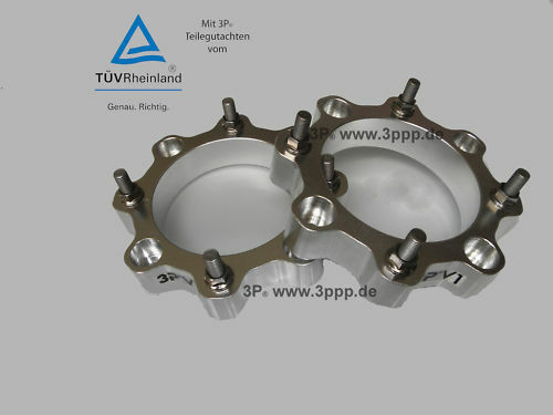 Quad Spurverbreiterung   Vorne 3P  Triton Teilegutachten TÜV Gutachten B-Ware