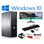 FAST-DELL-DUAL-SCREEN-PC-COMPUTER-DESKTOP-TOWER-WINDOWS-10-8GB-RAM-1000GB-HDD thumbnail 1