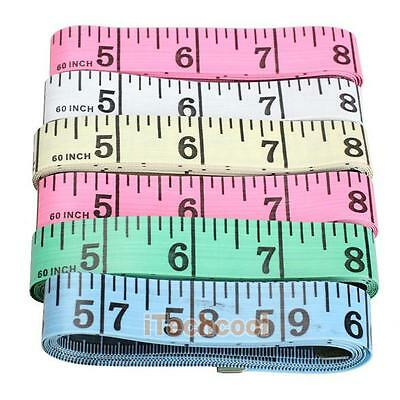 "4PCS Body Measuring Ruler Sewing Cloth Tailor Tape Measure Soft Flat 60"" 1.5M"