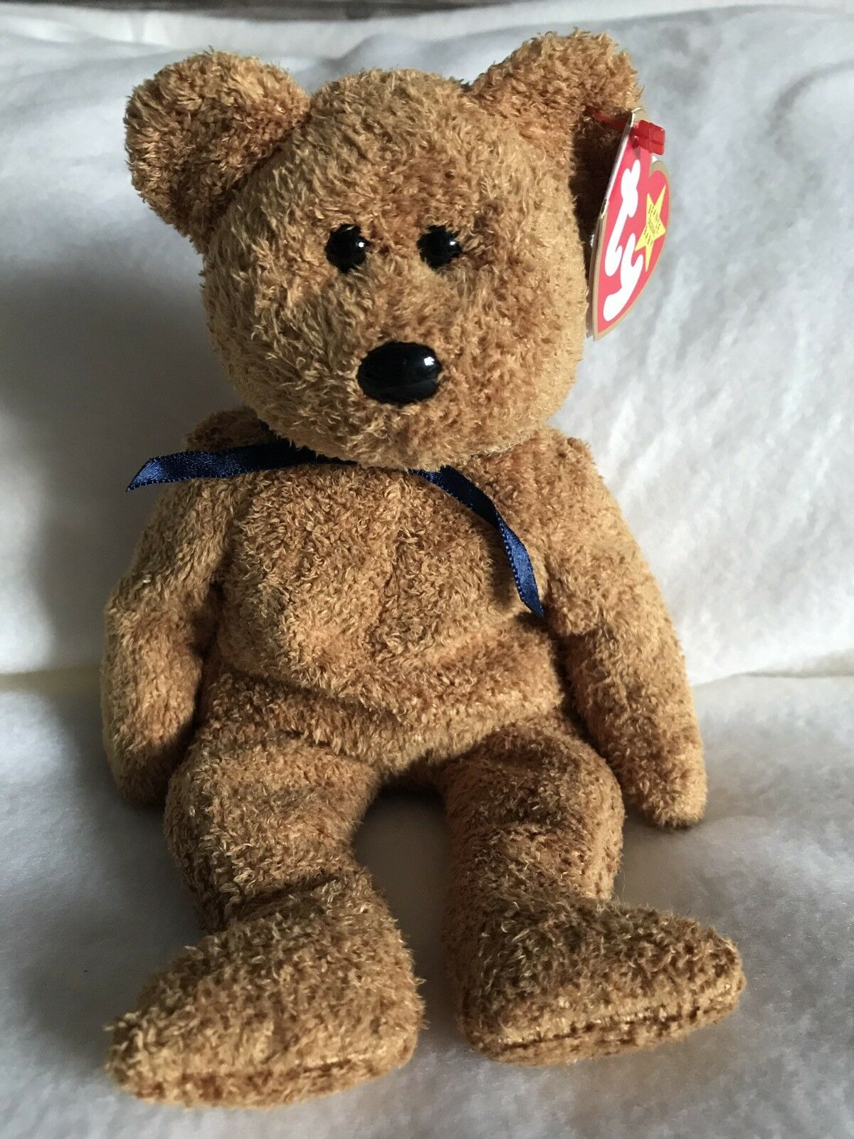 Original ty Beanie Babies Rare Fuzz the Bear With Errors