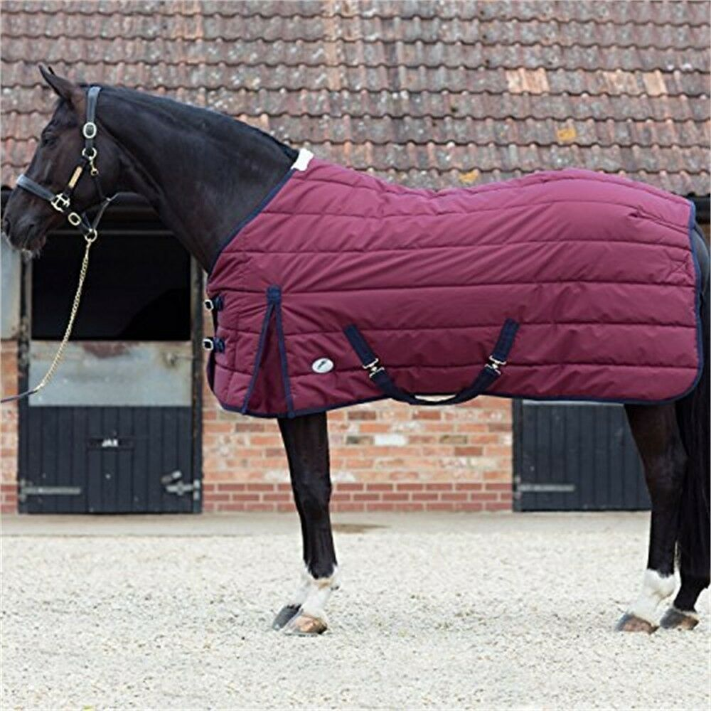 Jhl Essential Mediumweight Stable Rug 6ft3 Burgundy And Navy