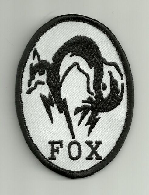 Metal Gear Solid MGS Black White Fox Hound Special Force COSPLAY Patch