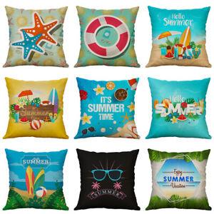 Fashion-Hello-Summer-Beach-Pillow-Case-Cotton-Linen-Cushion-Cover-Home-Decor