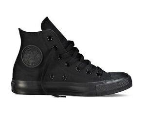all star converse nere alte uomo