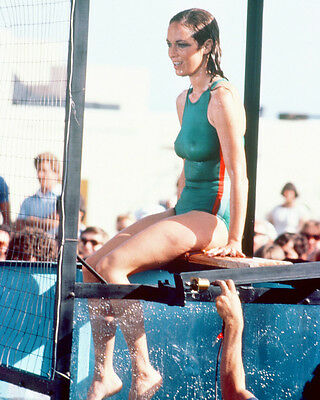 CATHERINE BACH IN SWIMSUIT BY POOL 8X10 COLOR PHOTO