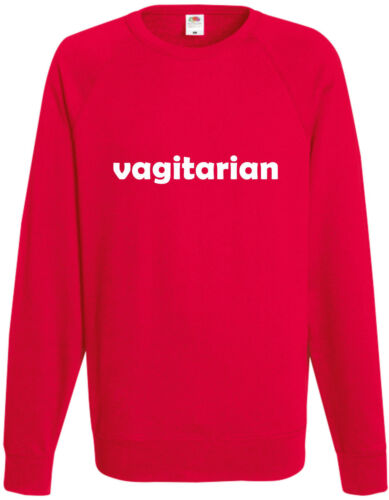 Vagitarian Funny Sweatshirt Comedy Unisex Jumper Joke Top Stag Do Offensive Rude
