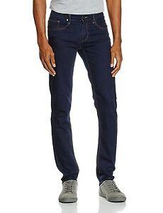 104576dc Details about Versace Jeans men's slim fit dark deep indigo jeans size W40