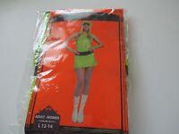 Mod Neon Green Disco Girl Ladies Size Large 12-14 Halloween Costume