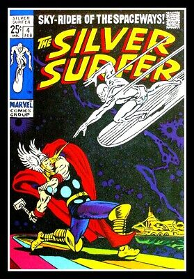 "4.75/"" The Silver Surfer /& Thor vinyl sticker #4 Comics decal for car laptop."