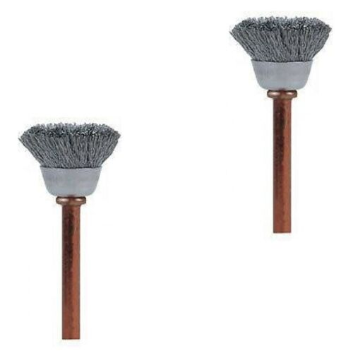 Dremel 531 2x 13mm Stainless Steel Cup Shape Cleaning Brush for High Speed Tools