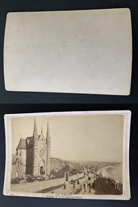 France-le-Havre-chapelle-Notre-Dame-des-Flots-Vintage-albumen-print-carte-cab