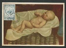 BELGIEN MK 1958 UNO HUMAN RIGHTS MAXIMUMKARTE CARTE MAXIMUM CARD MC CM d1319