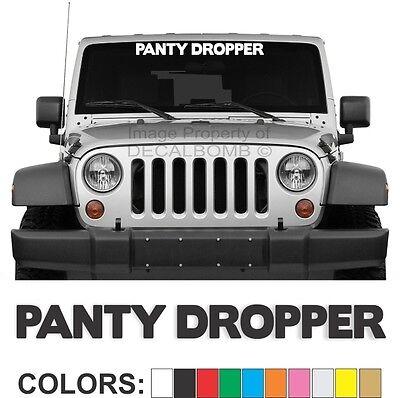 "Panty Dropper /""Script/"" Windshield Decal Sticker Diesel Turbo UTV ATV Car Truck"