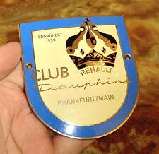 PLAKETTE selten Renault DAUPHINE Club FRANKFURT/Main 1959 GORDINI plaque DR33