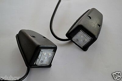 2x Front LED White Lights Cabin Roof Door Marker Lamps Truck Trailer Van Kitcar