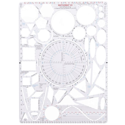 Mathomat V2 Geometry Template With Instruction Manual H10200800