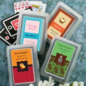 40 Personalized Playing Cards Anniversary Graduation Birthday Party