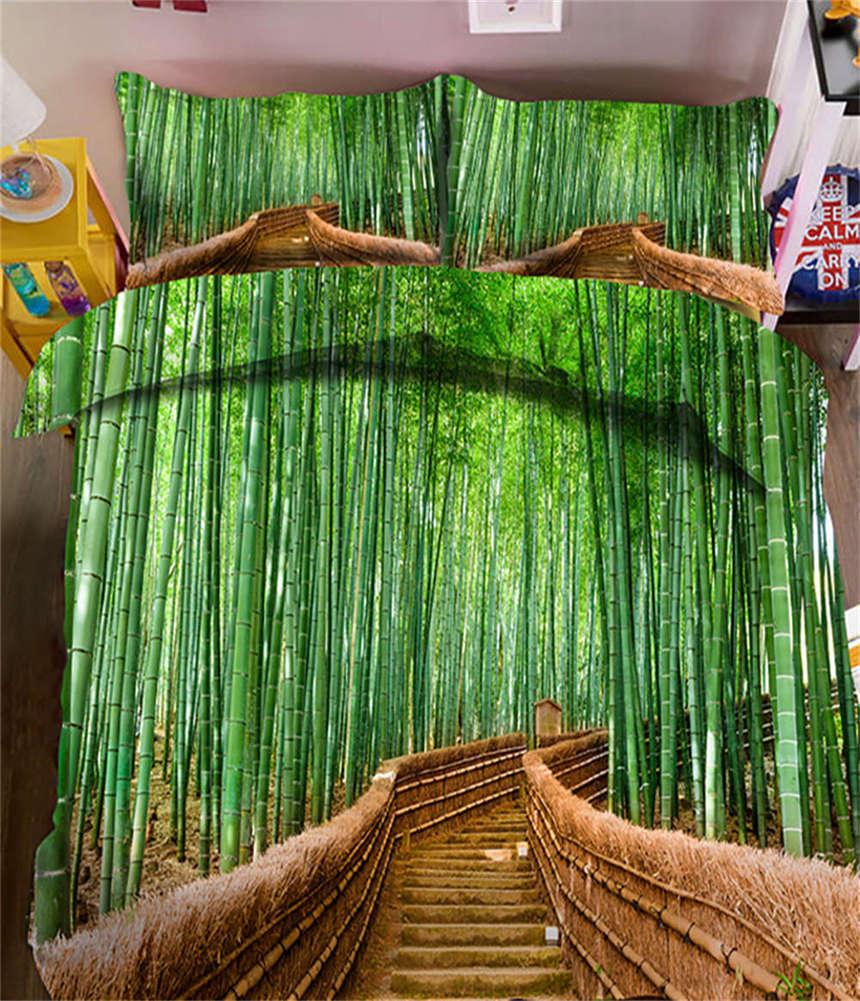 Gracious  Bamboo 3D Printing Duvet Quilt Doona Covers Pillow Case Bedding Sets