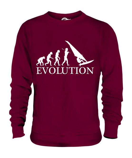 WINDSURFER EVOLUTION OF MAN UNISEX SWEATER  Herren Damenschuhe LADIES GIFT WINDSURFING
