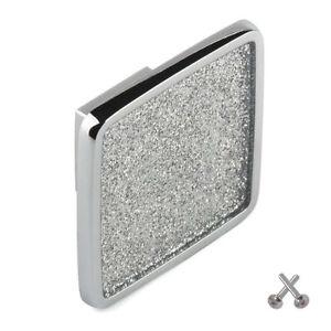 6 X GLITTER CHROME 23MM KNOB KITCHEN CABINET CUPBOARD DOOR BEDROOM DRAWER PULL