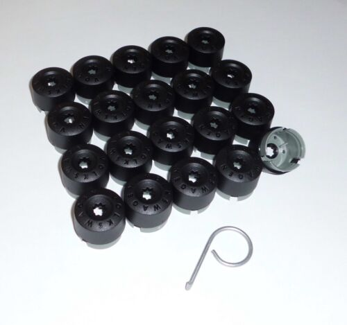 20 originales de VW t5 t6 tapas para 19 él tornillos negro-incl extractor