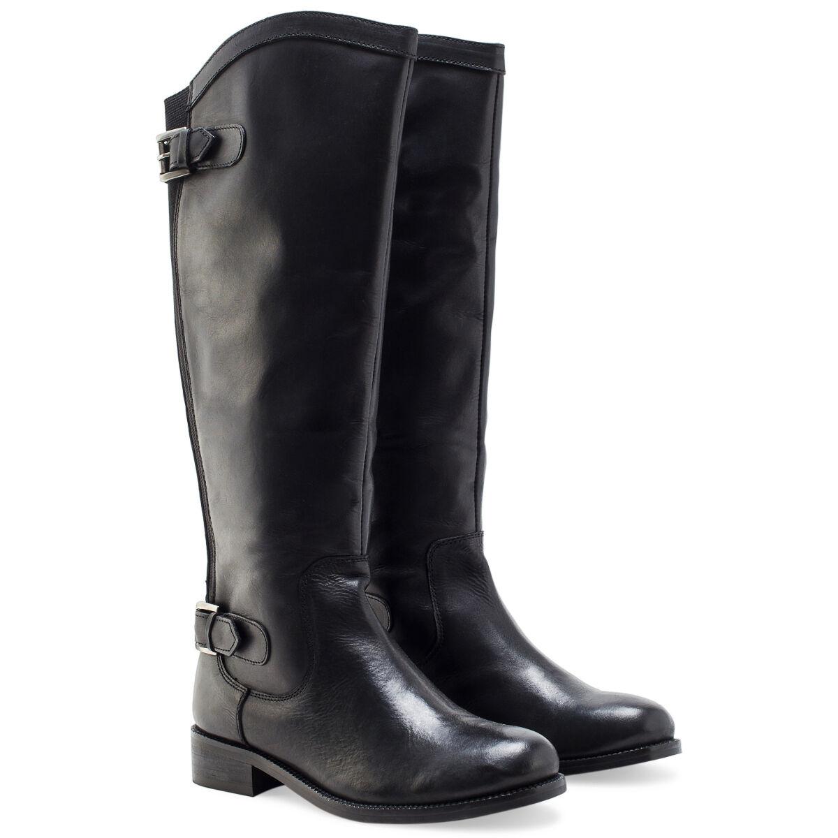 REDFOOT KENSINGTON NERO Stivali in Stivali Pelle Elasticizzati Equitazione Zip Stivali in a9f7f3