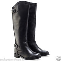 Redfoot Kensington Black Ladies Leather Elasticated Riding Zip Boots Uk 5