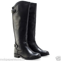 Redfoot Kensington Black Ladies Leather Elasticated Riding Zip Boots Uk 6