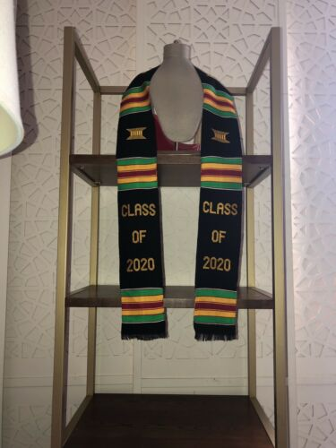 Custom Graduation Stole Kente Class Of 2020 Handwoven Kente Scarves