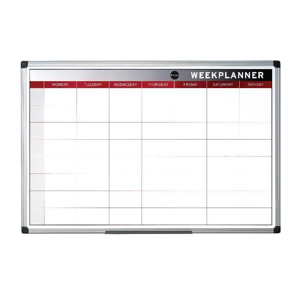 Bi-Office Magnetic Week Planner 900x600mm GA0333170