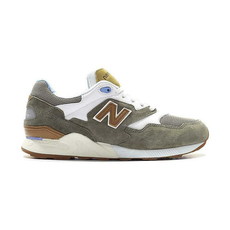 SALE MENS NEW BALANCE RUNNING 90S BROWN WHITE ML878ATB BRAND NEW IN BOX SHOES