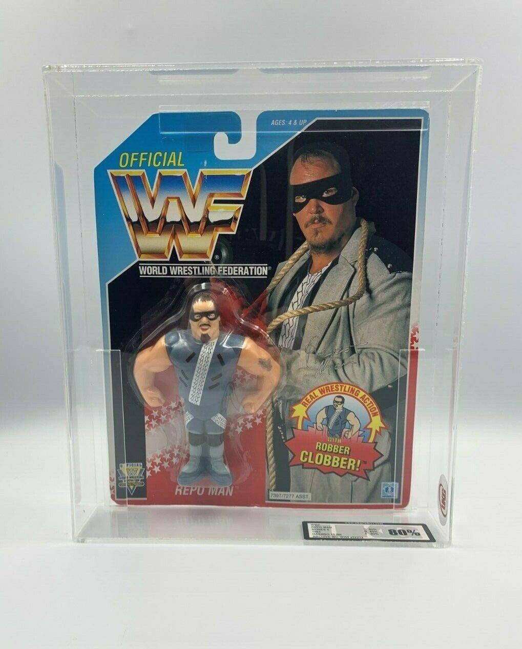 WWF Hasbro Repo uomo SERIE 6 1993 Hasbro 15 BK autodate UKG 80% non AFARARE