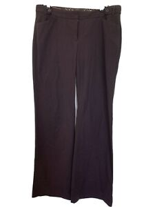Express-Design-Studio-Editor-Pants-Brown-Sz-10-Regular-Career-Work-Flare-Bottom