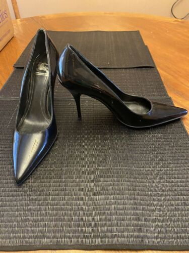 Burberry Black Leather Platform Pumps Heels Women'