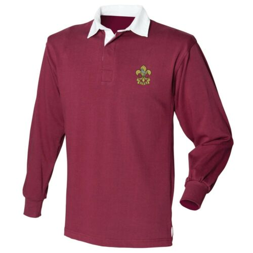 The King/'s Regiment Embroidered Crested L//S Rugby Shirt