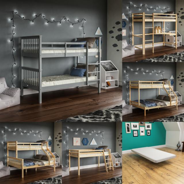 3ft 4ft Enmore Triple Wooden Bunk Bed Kids Pine Mail Order Return Item For Sale Ebay