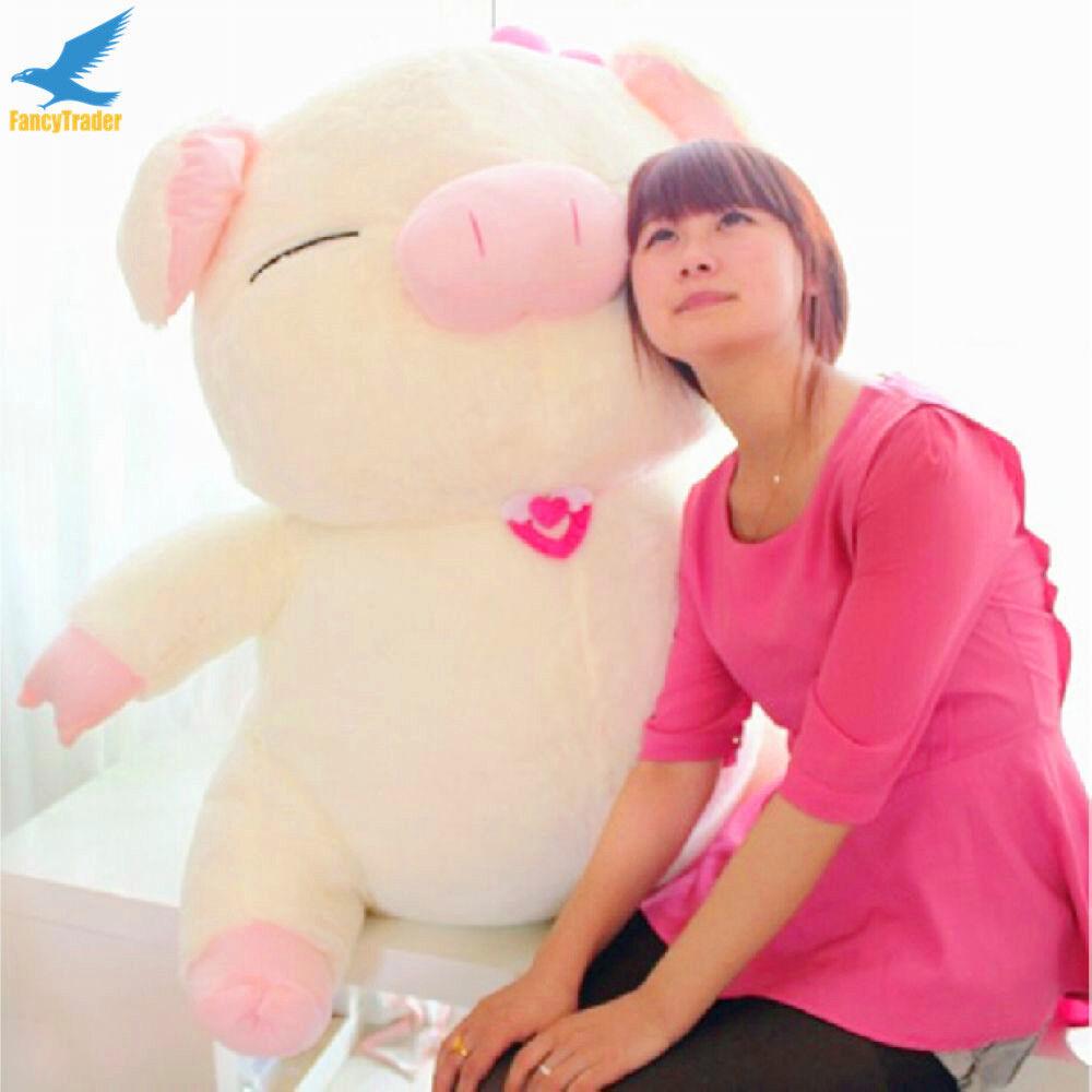 New varm Cute Pig leksaks Plush mjuk stor djur Stuffing Doll Birthday gåva 110CM