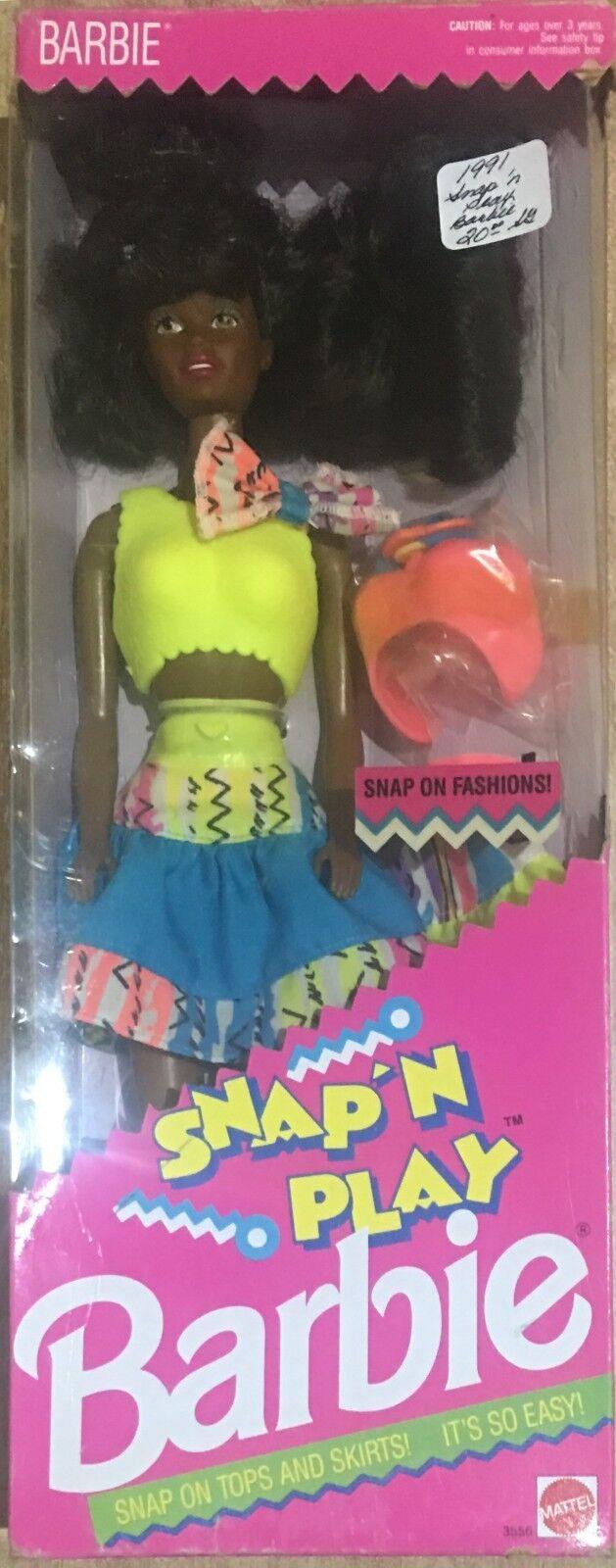 Barbie Mattel Snap'N Play Afro American Vintage 91'