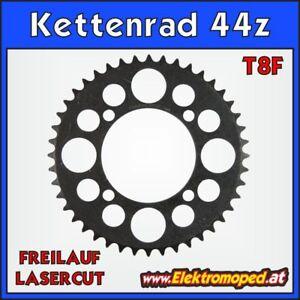 """Ersatzteil Elektro-Scooter T8F-44z Laser Kettenrad 44 Zähne Freilauf  """"dicke Ket"""