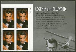 #3692 37c Cary Grant, Placa Bloque [S111111 Ur ], Nuevo Cualquier 5=