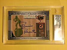 2014 Leaf Signature History Of Baseball Robin Roberts Authentic Cut Autograph