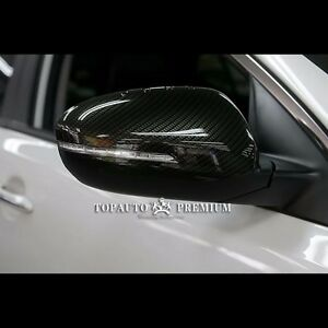 Image Is Loading Carbon Fiber Side Mirror Cover Trim Replace For