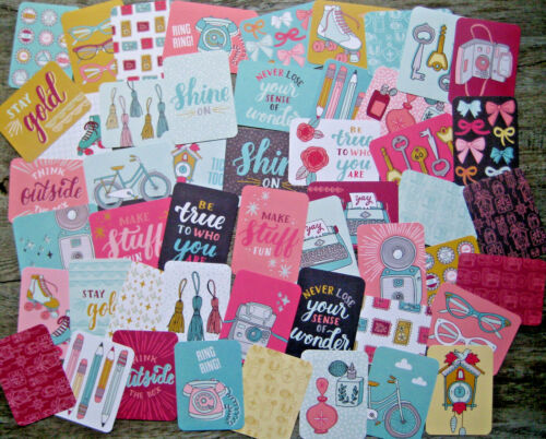 """50 PK /'KNICK KNACK/' EDITION PROJECT LIFE CARDS BY BECKY HIGGINS 3/"""" X 4/"""""""
