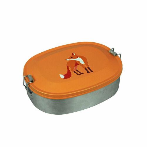 """Brotdose Lunchbox aus Edelstahl für Kinder Tier Motiv /""""Fox/"""" Brotbox von The Zoo"""