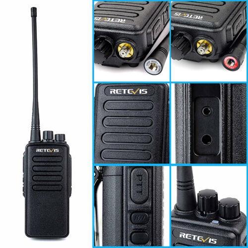 2xRetevis RT1 WalkieTalkie VHF136-174MHz 10W 1750Hz Tone Scrambler way Radio VOX