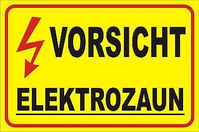5x Warnschild für Weidezaun VORSICHT ELEKTROZAUN Hinweisschild