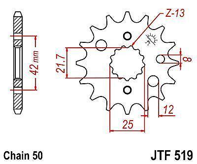 D1-D3 JT Front Drive Sprocket JTF519 15t fits Kawasaki ZZ-R600 90-92