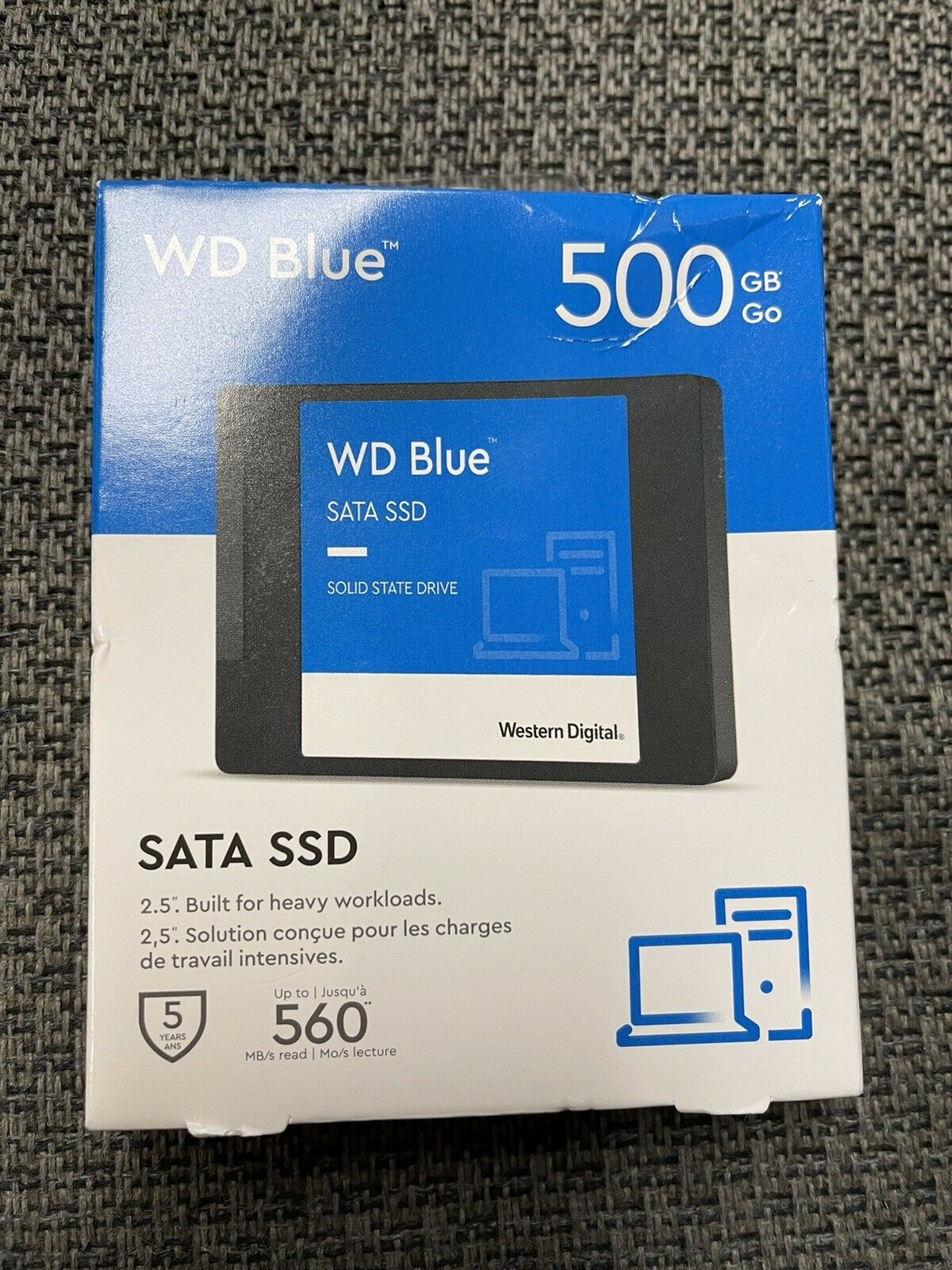 Brand New WD Blue 500GB Internal SATA SSD - Solid State Drive - WDBNCE5000PNC. Buy it now for 54.99